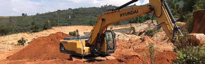 heavy machinery clearing land