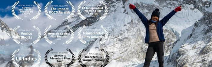 part of poster for women take on nepal film